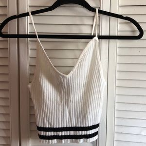 White cropped cami
